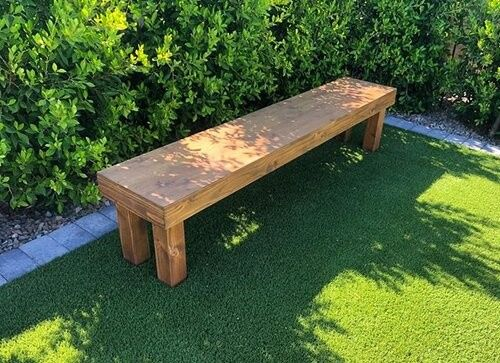 Handmade bench for guests