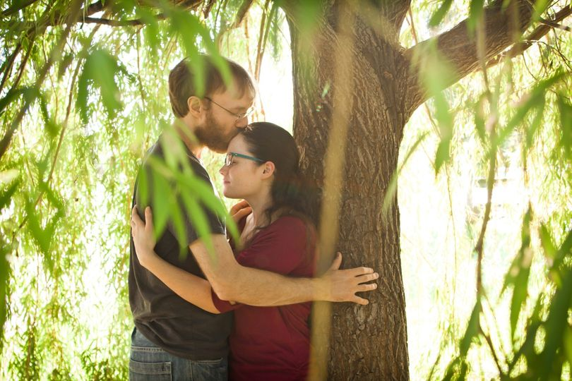 Willow Tree Engagement Shot