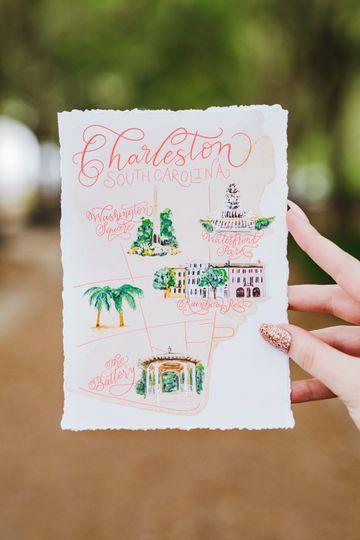 Custom painted map