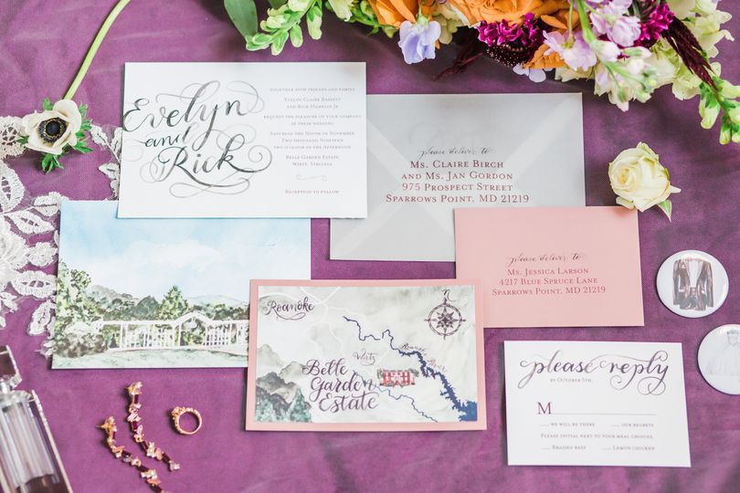 Venue wedding invitation