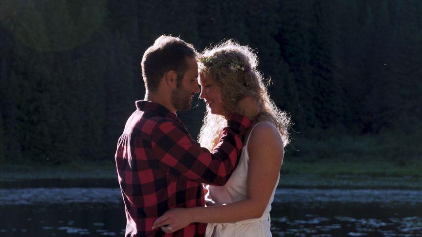 A beautiful mountain wedding near Mt. Hood, Oregon.
