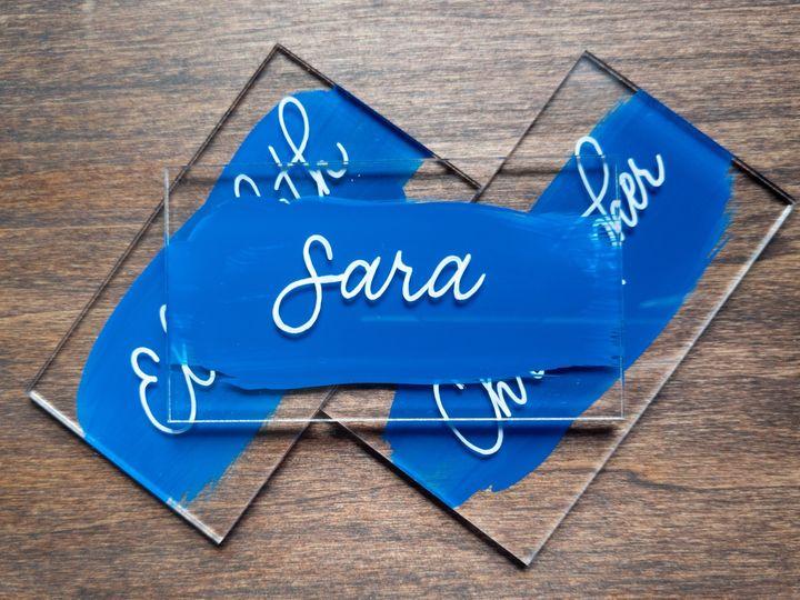 Tmx Acrylic Blue Place Card 51 1895959 157913373580218 Indianapolis, IN wedding invitation