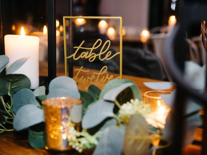 Tmx Acrylic Table Number 51 1895959 158531683893073 Indianapolis, IN wedding invitation