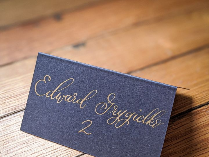 Tmx Blue And Gold Escort Card 51 1895959 158531653686804 Indianapolis, IN wedding invitation
