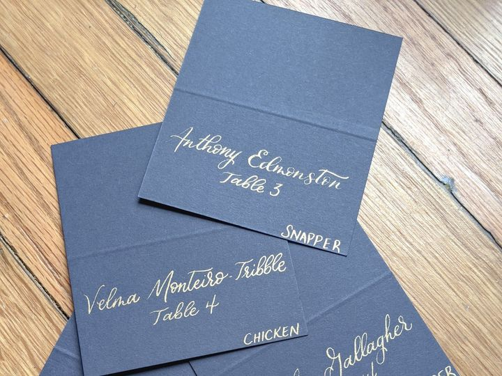 Tmx Blue And Gold Escort Cards 51 1895959 158531654768085 Indianapolis, IN wedding invitation