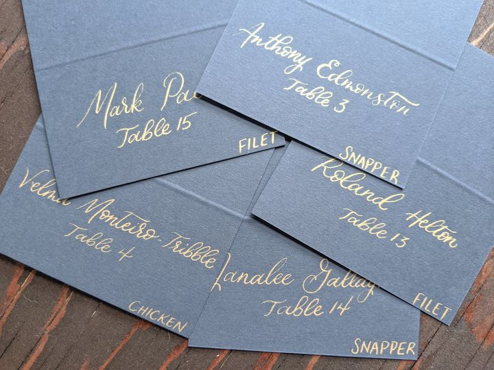 Tmx Blue With Gold Ink Escort Cards 51 1895959 158531654294164 Indianapolis, IN wedding invitation