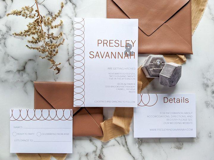 Tmx Brass Ring Invitation Suite 51 1895959 161021800869194 Indianapolis, IN wedding invitation