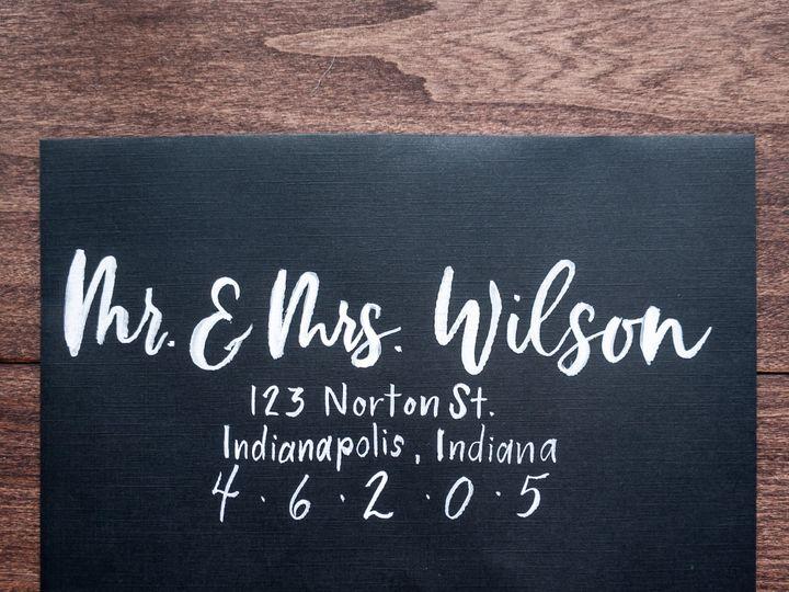 Tmx Custom Envelope Addressing 1 51 1895959 157913374510040 Indianapolis, IN wedding invitation