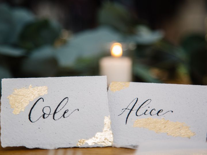 Tmx Gold Foil Place Cards 51 1895959 158531687346972 Indianapolis, IN wedding invitation