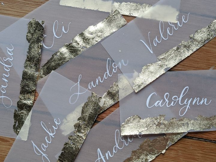 Tmx Gold Foil Vellum Place Cards White Ink 51 1895959 158531656749422 Indianapolis, IN wedding invitation