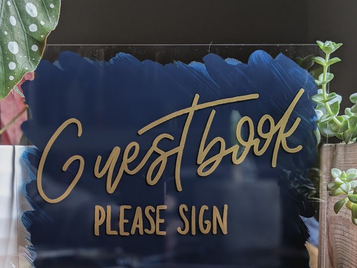 Tmx Guestbook 8x10 Acrylic Painted Sign Blue And Gold 51 1895959 158531692352480 Indianapolis, IN wedding invitation