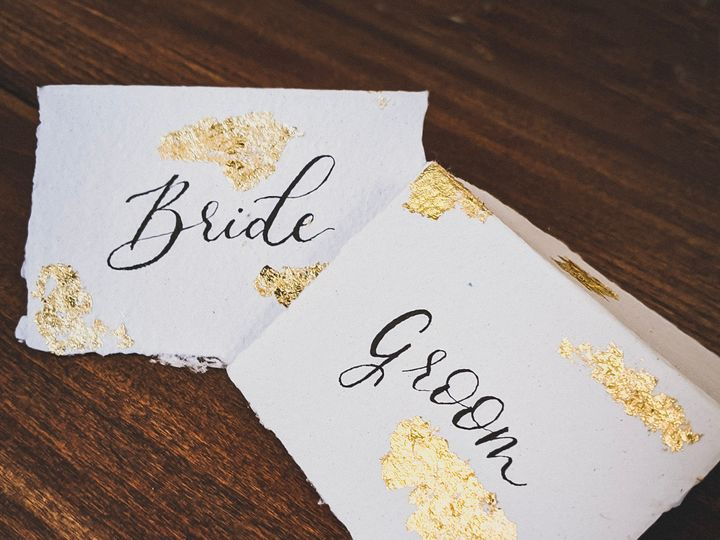 Tmx Handmade Paper Gold Foil Placard 51 1895959 157913376637333 Indianapolis, IN wedding invitation