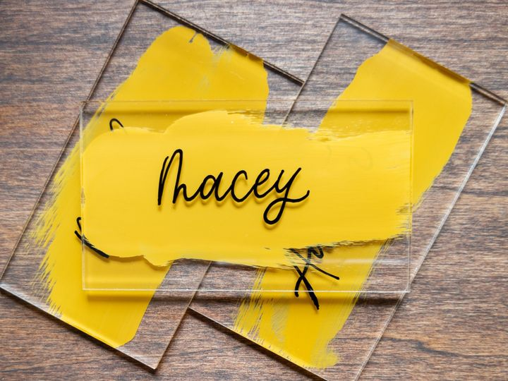 Tmx Mustard Acrylic Place Card 51 1895959 158531659858055 Indianapolis, IN wedding invitation