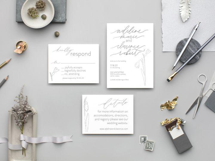 Tmx Snowdrop Suite 51 1895959 160581066460792 Indianapolis, IN wedding invitation
