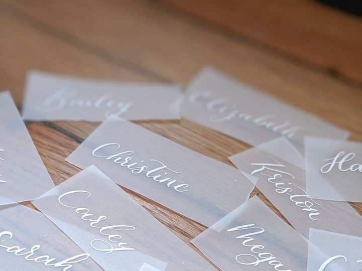 Tmx Vellum Place Cards White Ink 51 1895959 158531661073136 Indianapolis, IN wedding invitation