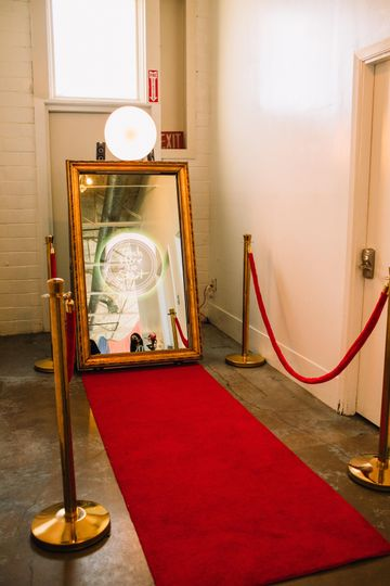 Gold Frame Mirror Photo Booth