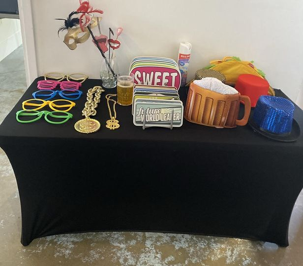 Table full of fun props