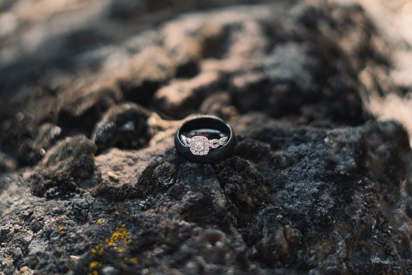 Rings and lava rock