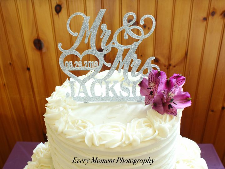 Every Moment Photography custom cake topper