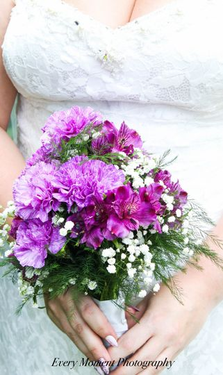 Every Moment Photography carnation bouquet