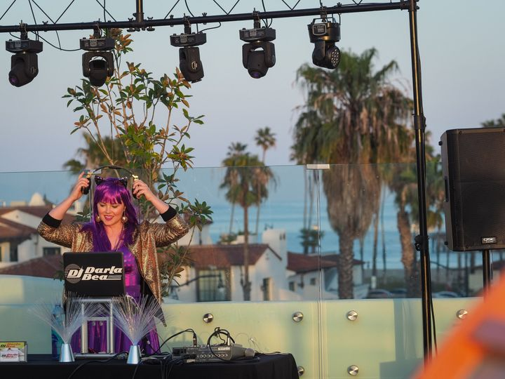 DJ Darla Bea doing her thing