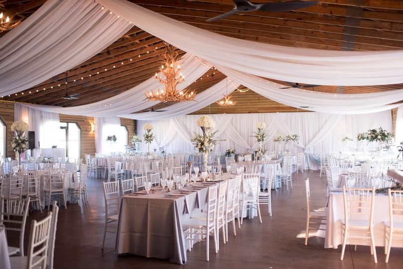 Reception area with draping