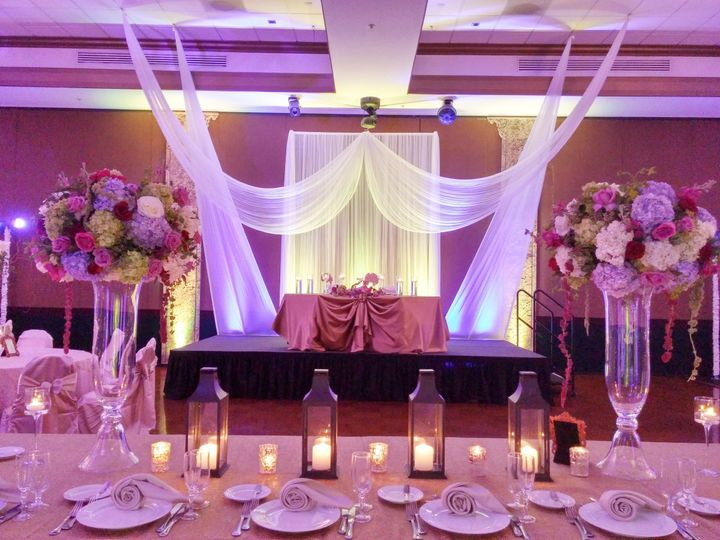 A Sweetheart Table and Backdrop