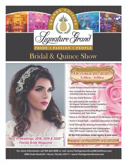 Bridal & Quince Show October