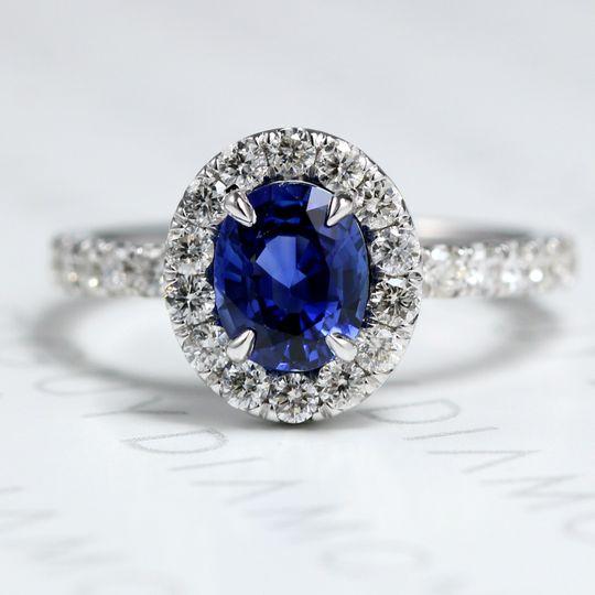 DGH Custom Sapphire Engagement