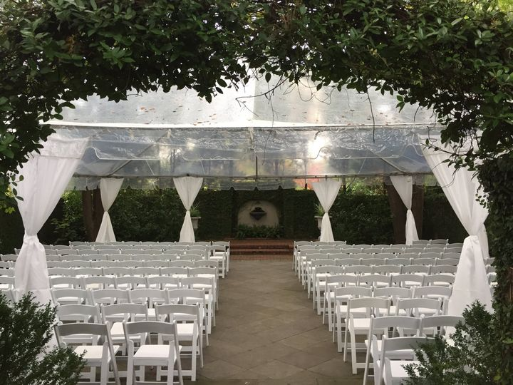 Ceremony tent at Lace House