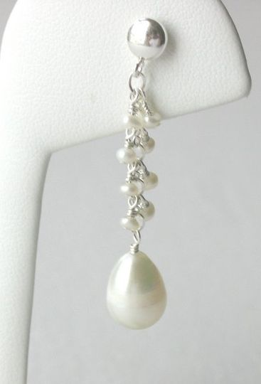 Luscious freshwater pearls create a simple, 