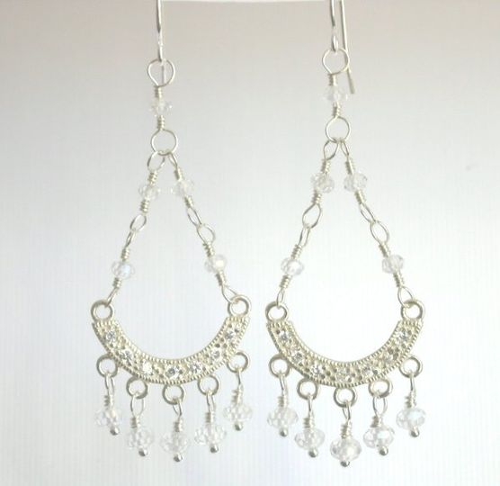 Chandelier earrings accented with