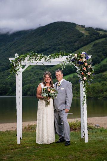Echo lake beach wedding