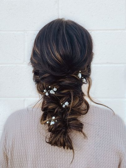 Whimsical down-style braid