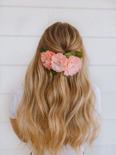 Softly Curled hair