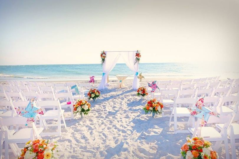 beach pinwheel wedding