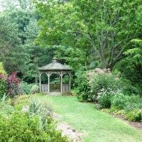 For a small, intimate ceremony, the gazebo is a beautiful, tranquil spot amongst the formal garden...