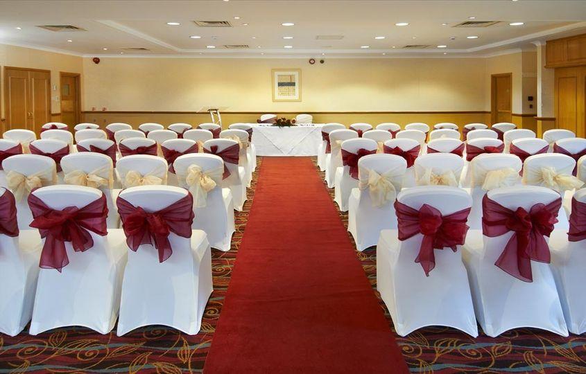 hilton cobham wedding red carpet