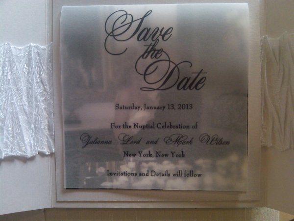 Tmx 1334889566231 DISavetheDate2 Cliffside Park wedding invitation