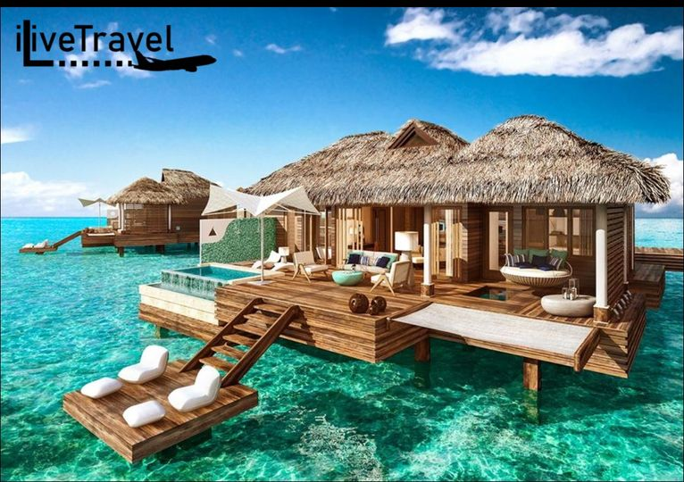 Sandals bungalow on the water