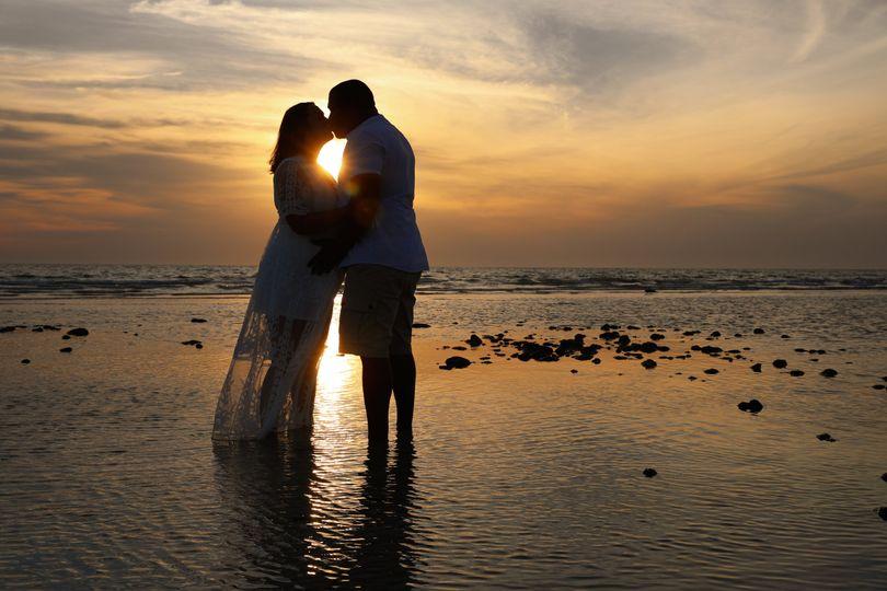 Beach Sunset Couple