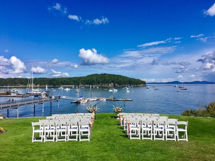 Bar Harbor wedding ceremony