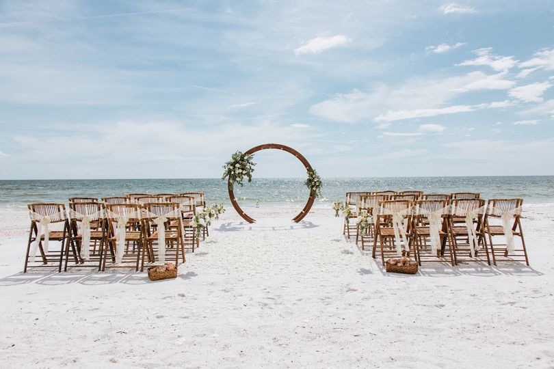 Beach wedding boho ceremony