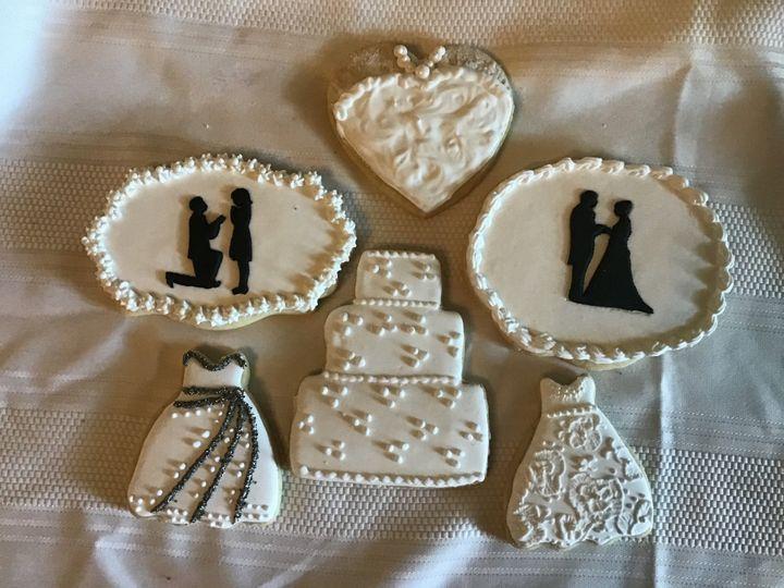 Just Married cookies