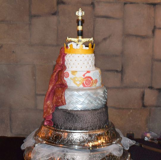 Medieval Knight wedding cake