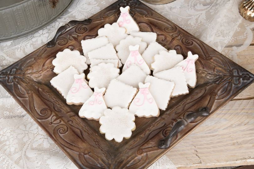 Wedding cookies, also great for bridal showers
