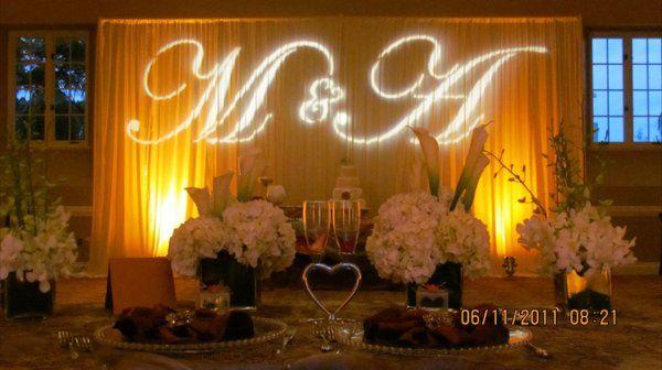 Wedding monogram uplighting