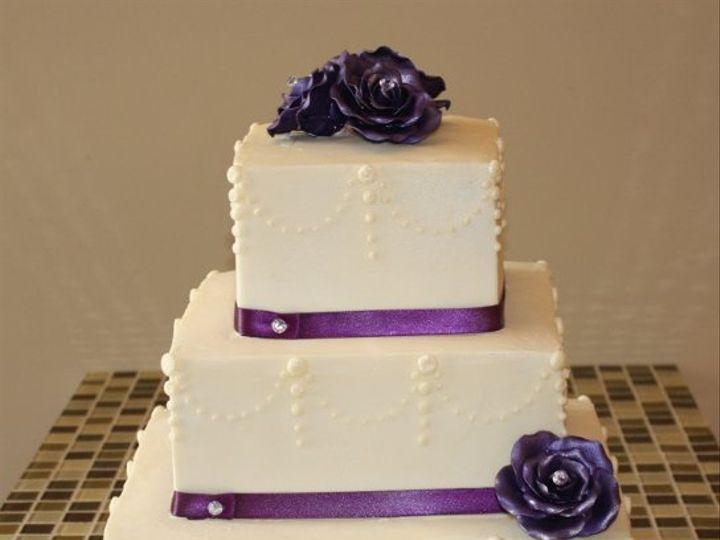 Tmx 1310160085508 Purplerosesrsbaltimorecakery Baltimore wedding cake