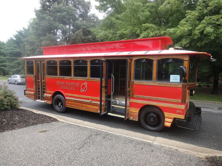trolley for devaney wedding