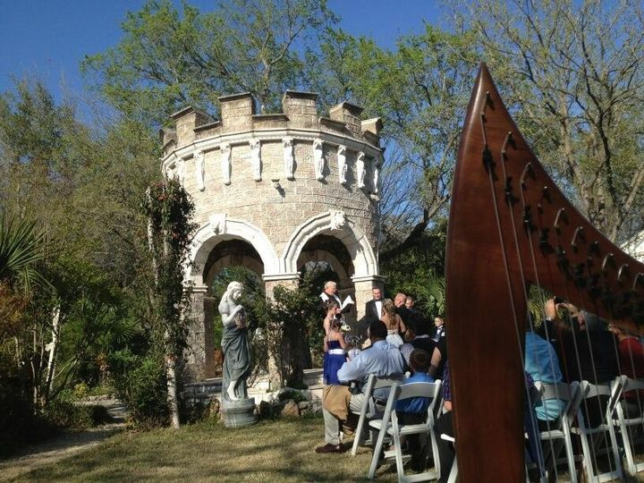 Minister Larry Todd at the amazing venue, Dunvegan Keep, in Austin, TX